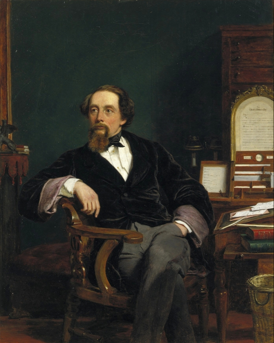 Beehives Powell Fright Great Britain 1819-1909. Charles Dickens in his office. Victoria and Albert Museum, London