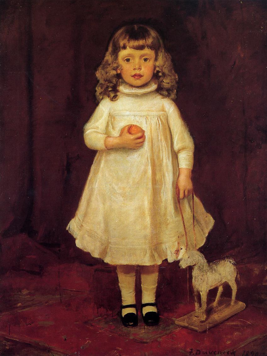 Фрэнк Дувенек. Девочка в белом платье