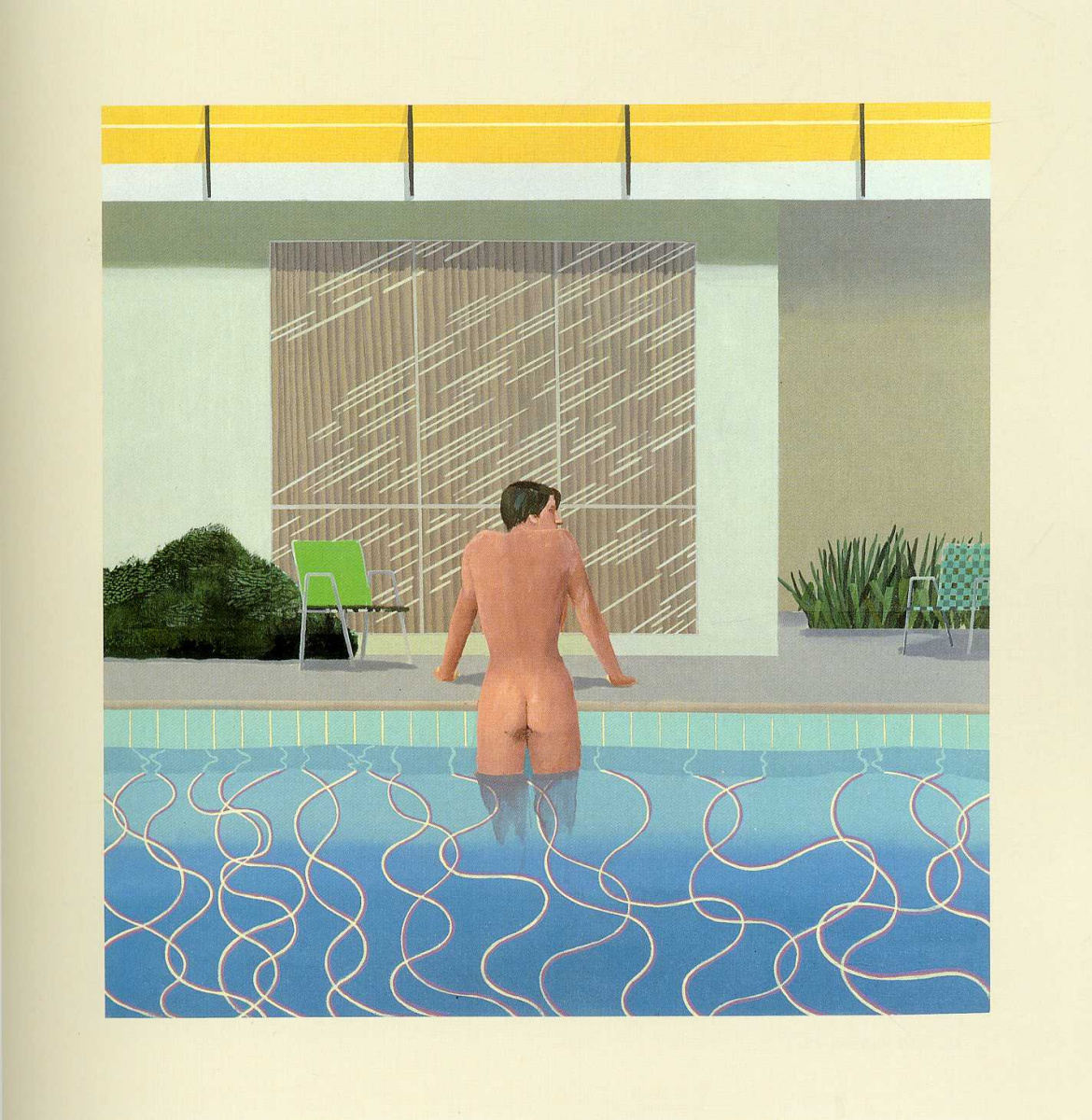 David Hockney. Peter getting out of Nick's pool
