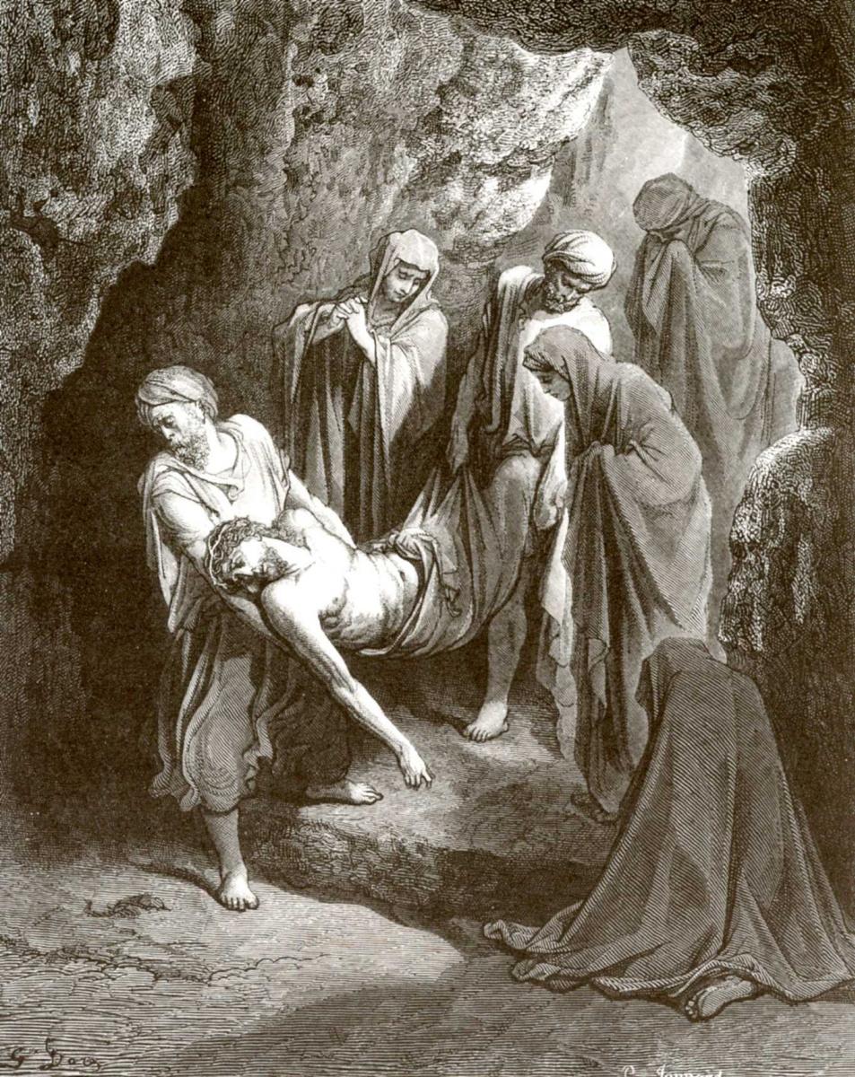 Поль Гюстав Доре. Иллюстрация к Библии: Положение во гроб