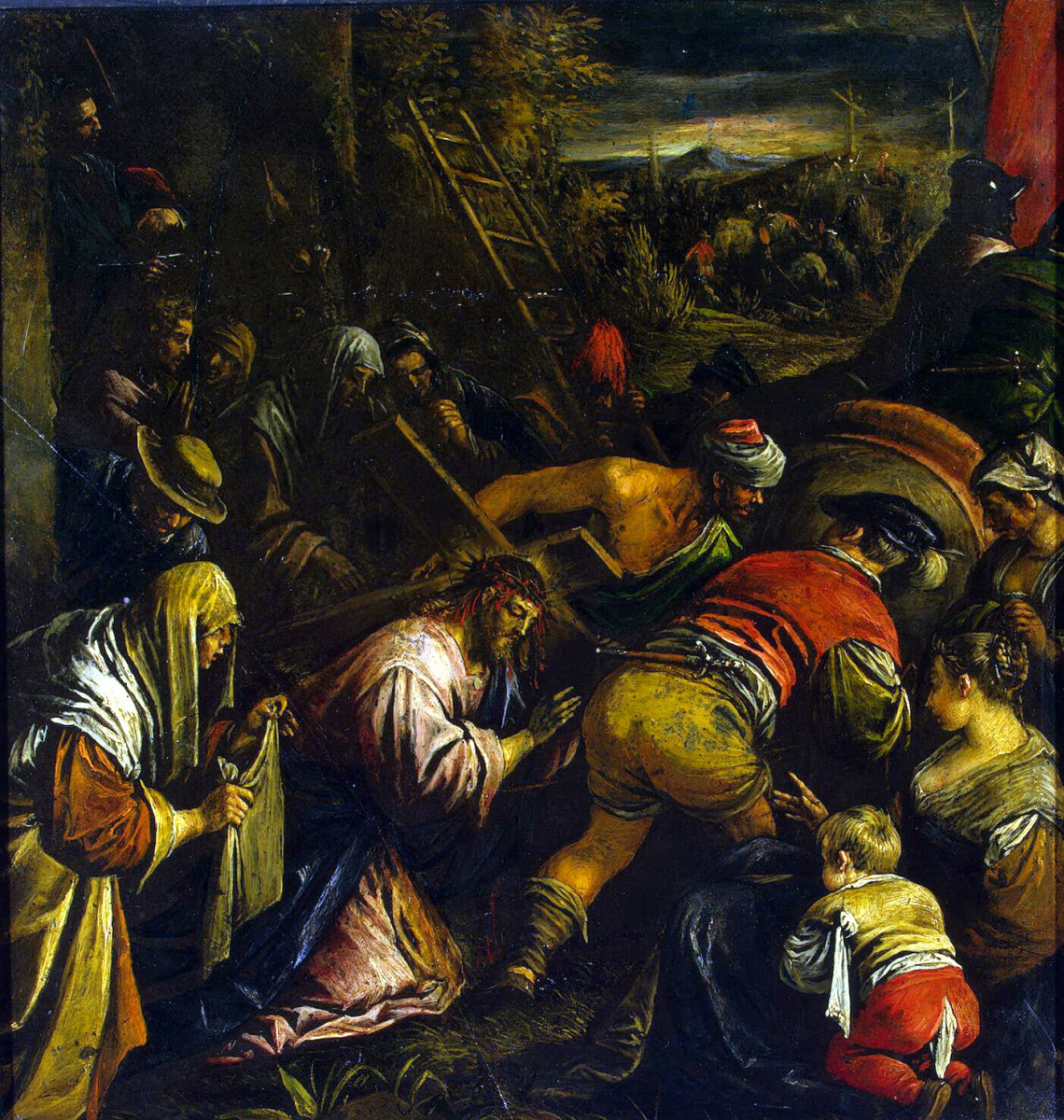 Leandro Bassano. The carrying of the cross