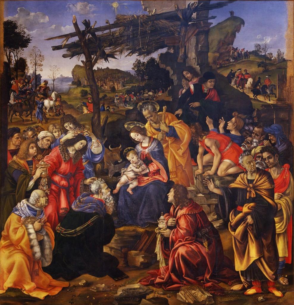 Fra Filippo Lippi. Pokonanie of the Magi
