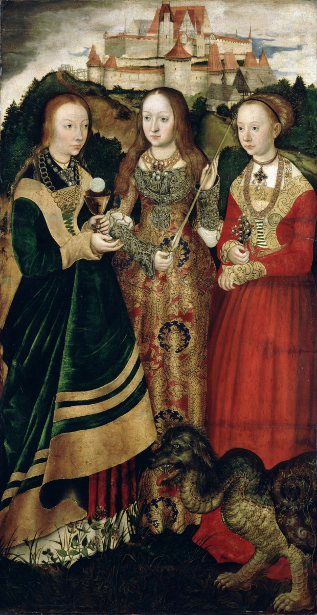 The Altar Of St. Catherine. Saints Barbara, Ursula and Margarita ...