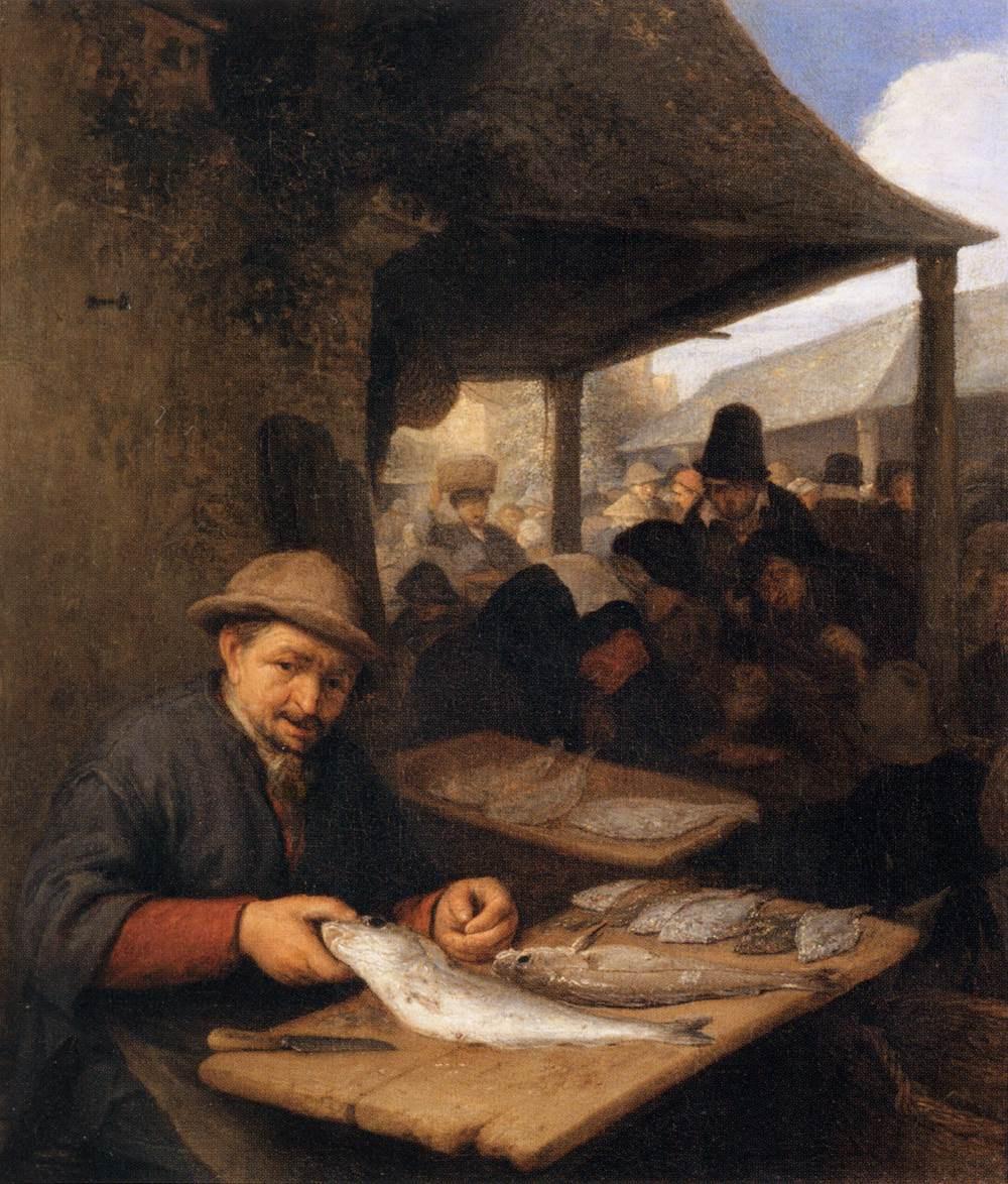 Adrian Jans van Ostade. Fishmonger