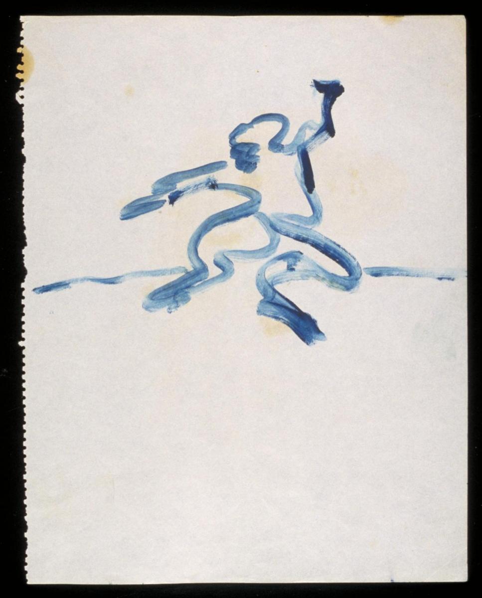 Фрэнсис Бэкон. Фигура с поднятой левой рукой №1