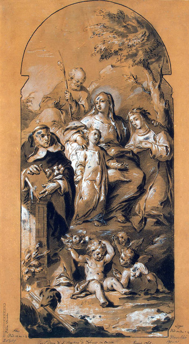 Пьетро Новелли. Мадонна с младенцем и святыми