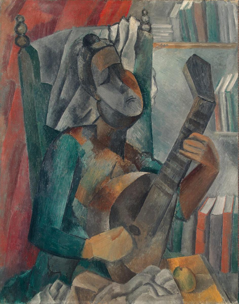 Пабло Пикассо. Женщина с мандолиной