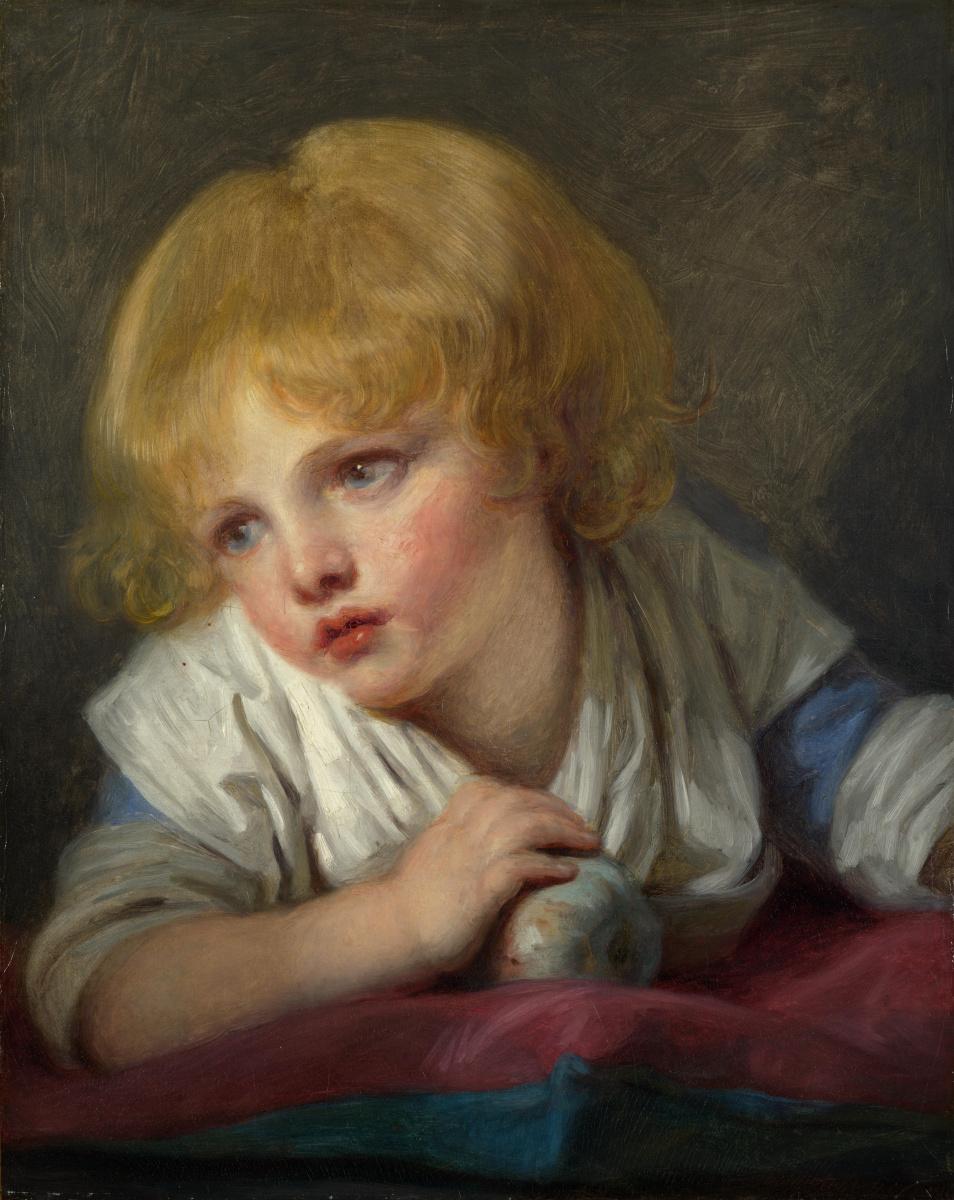 Жан-Батист Грёз. Ребенок с яблоком