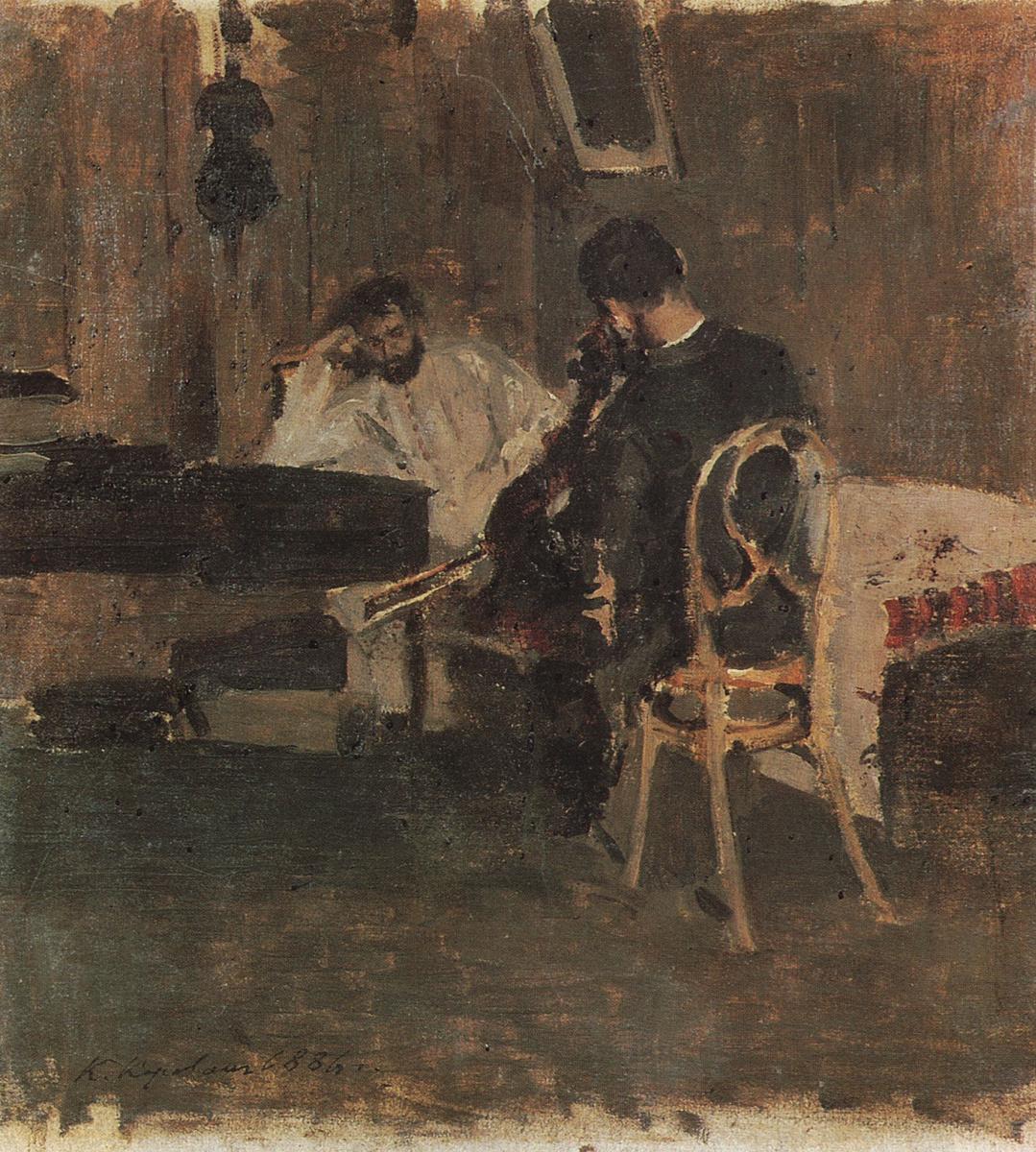 Константин Алексеевич Коровин. В комнате