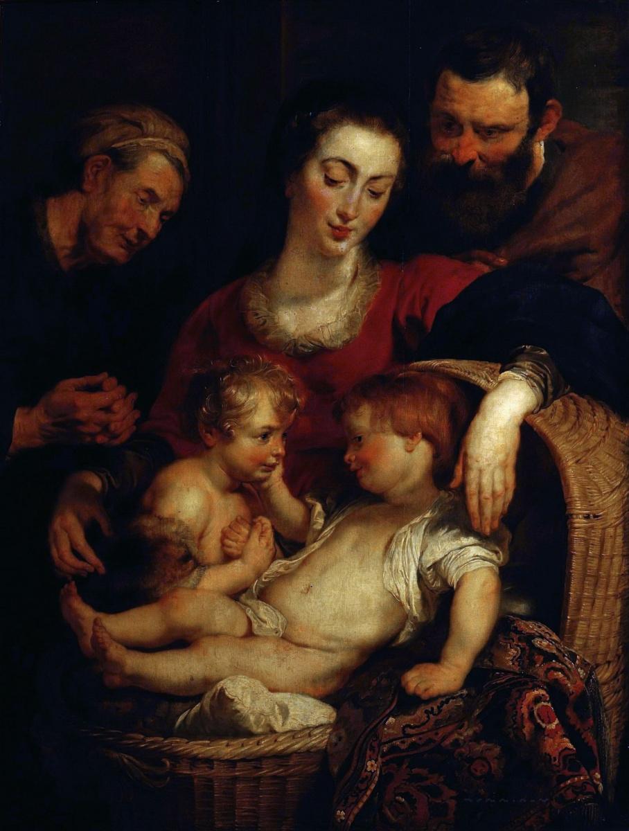 Питер Пауль Рубенс. Святое Семейство со св. Елизаветой и Иоанном Крестителем