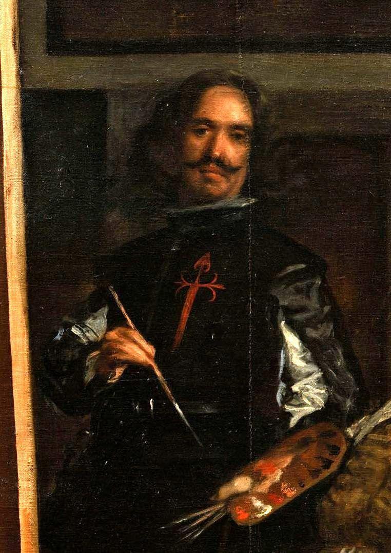 Диего Веласкес. Менины. Фрагмент. Автопортрет Диего Веласкеса