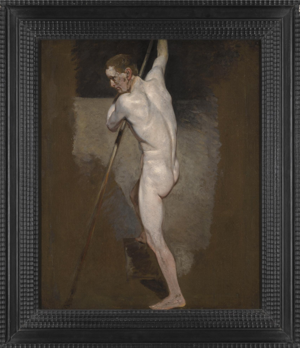 A standing Nude male. Sketch