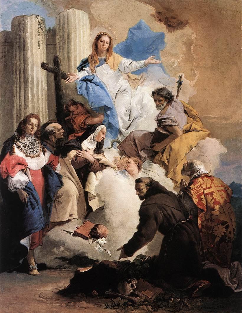 Джованни Баттиста Тьеполо. Дева и шестеро святых