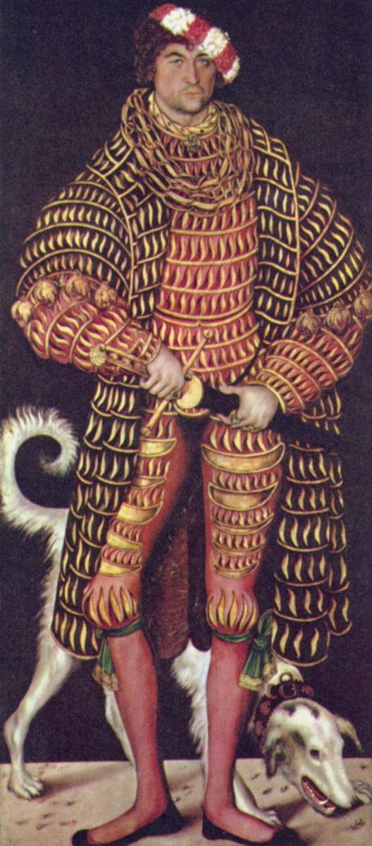 Лукас Кранах Старший. Портрет герцога Генриха Саксонского