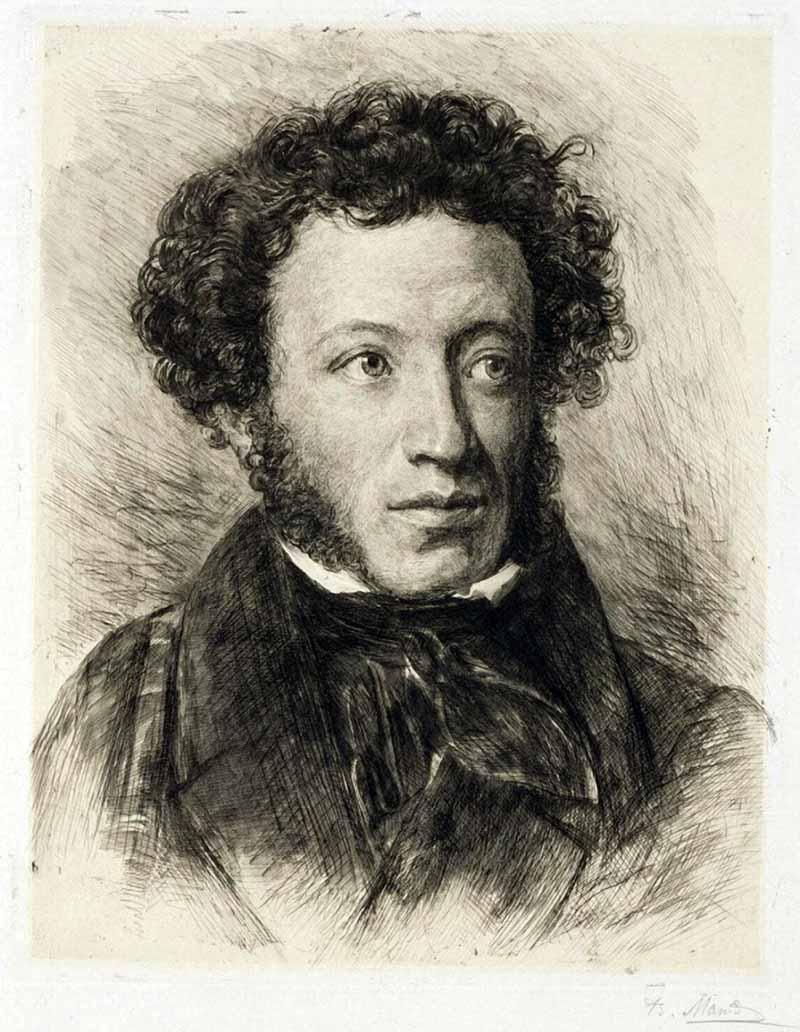 портрет пушкина в хорошем качестве а4