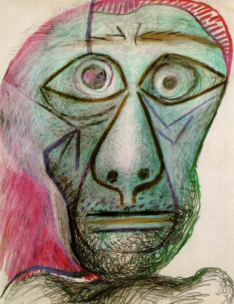 Пабло Пикассо. Автопортрет. 30 июня 1972