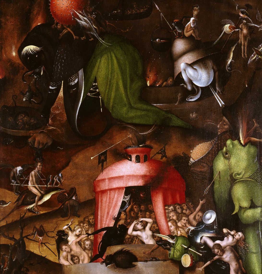 Lucas Cranach the Elder. Altar. The Last Judgment (by Jerome Bosch) right panel Hell Picture Gallery of Old Masters, Berlin detail