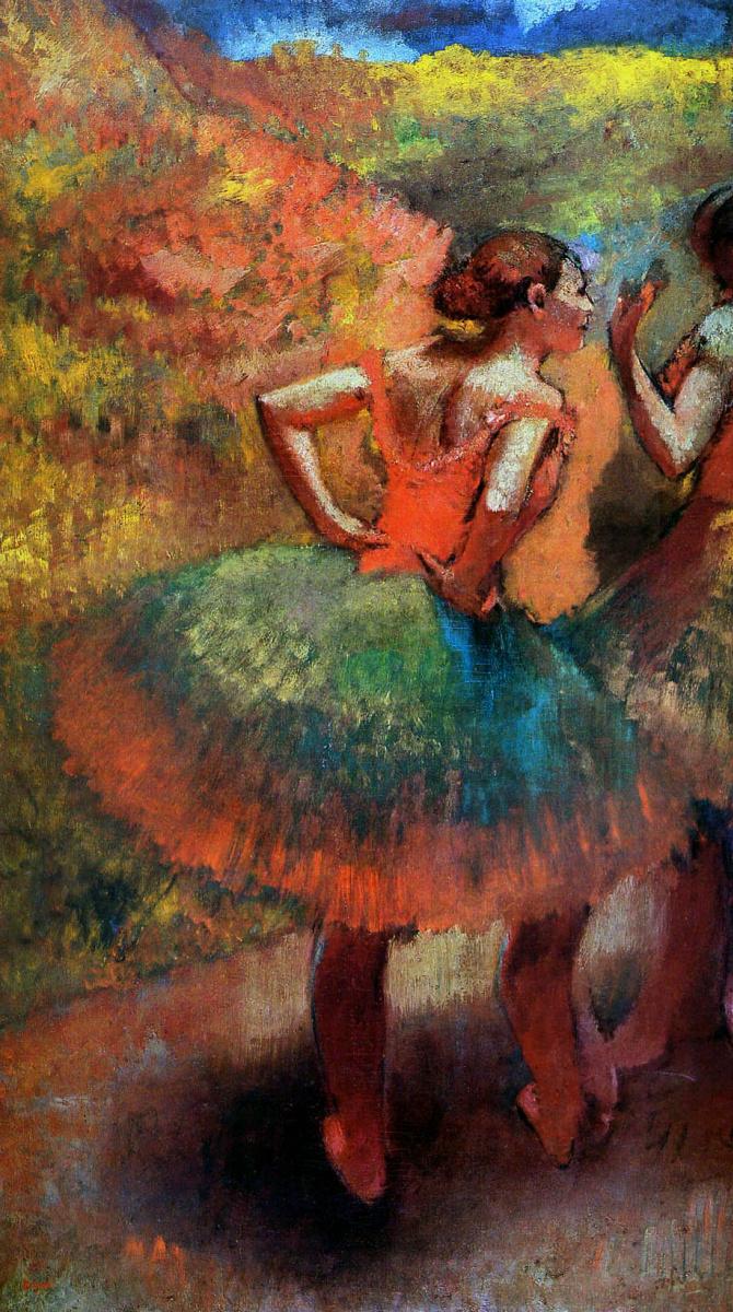 Эдгар Дега. Две танцовщицы в зеленых юбках