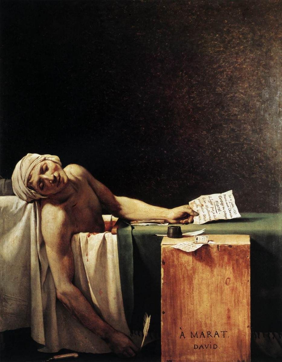 Jacques-Louis David. The Death Of Marat
