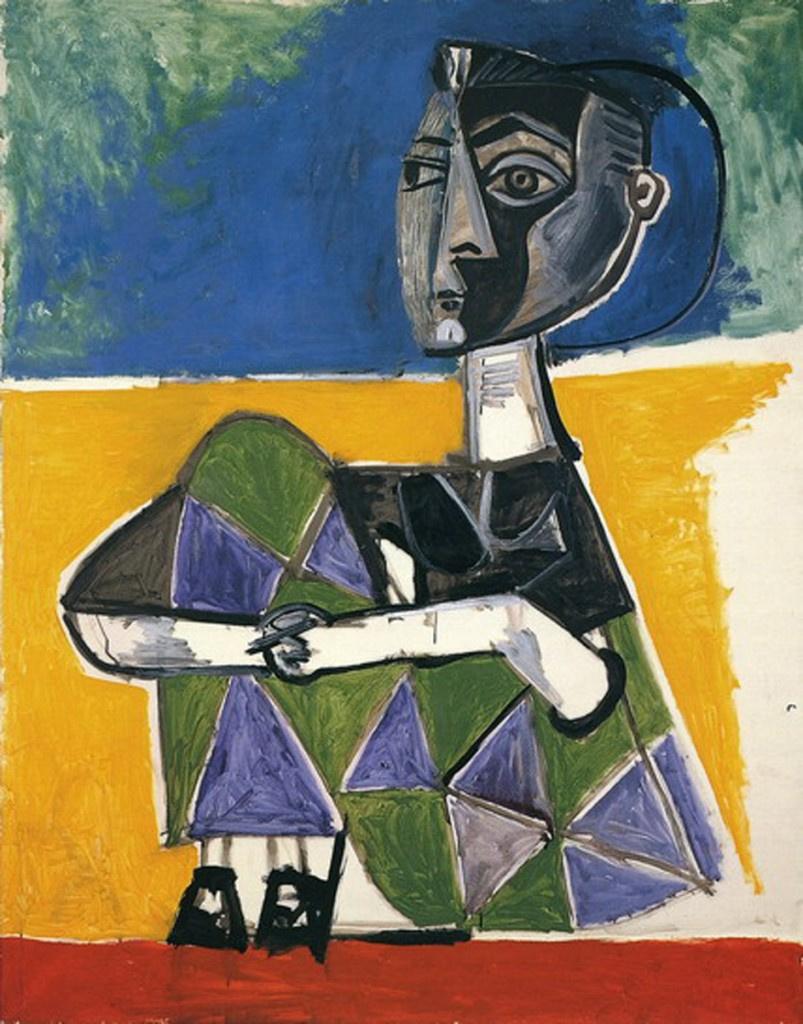 Пабло Пикассо. Сидящая Жаклин