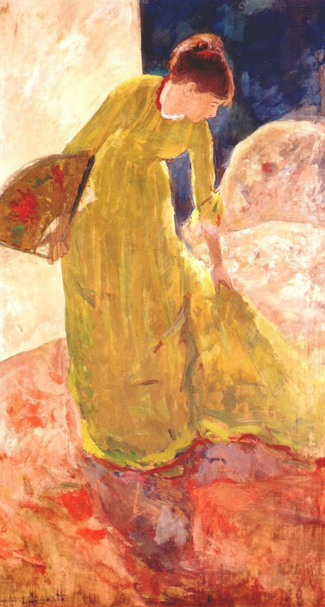 Мэри Кассат. Женщина, держащая веер