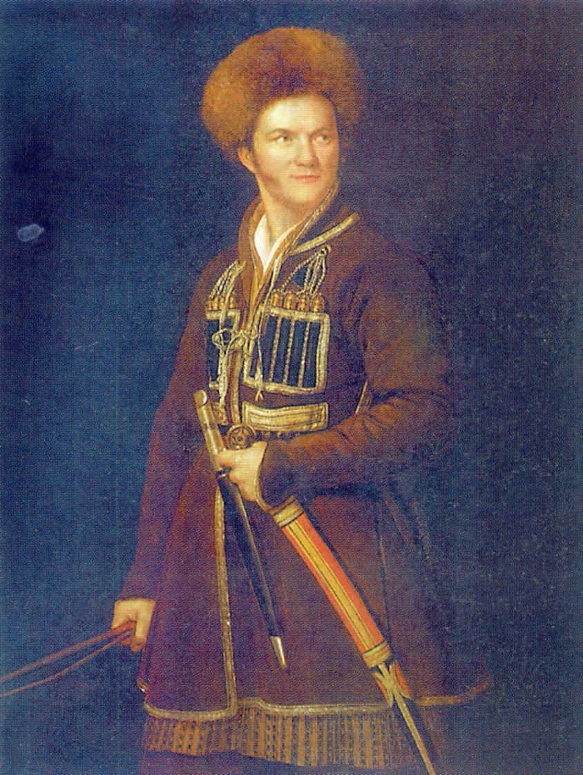 Александр Осипович Орловский. Автопортрет в черкеске