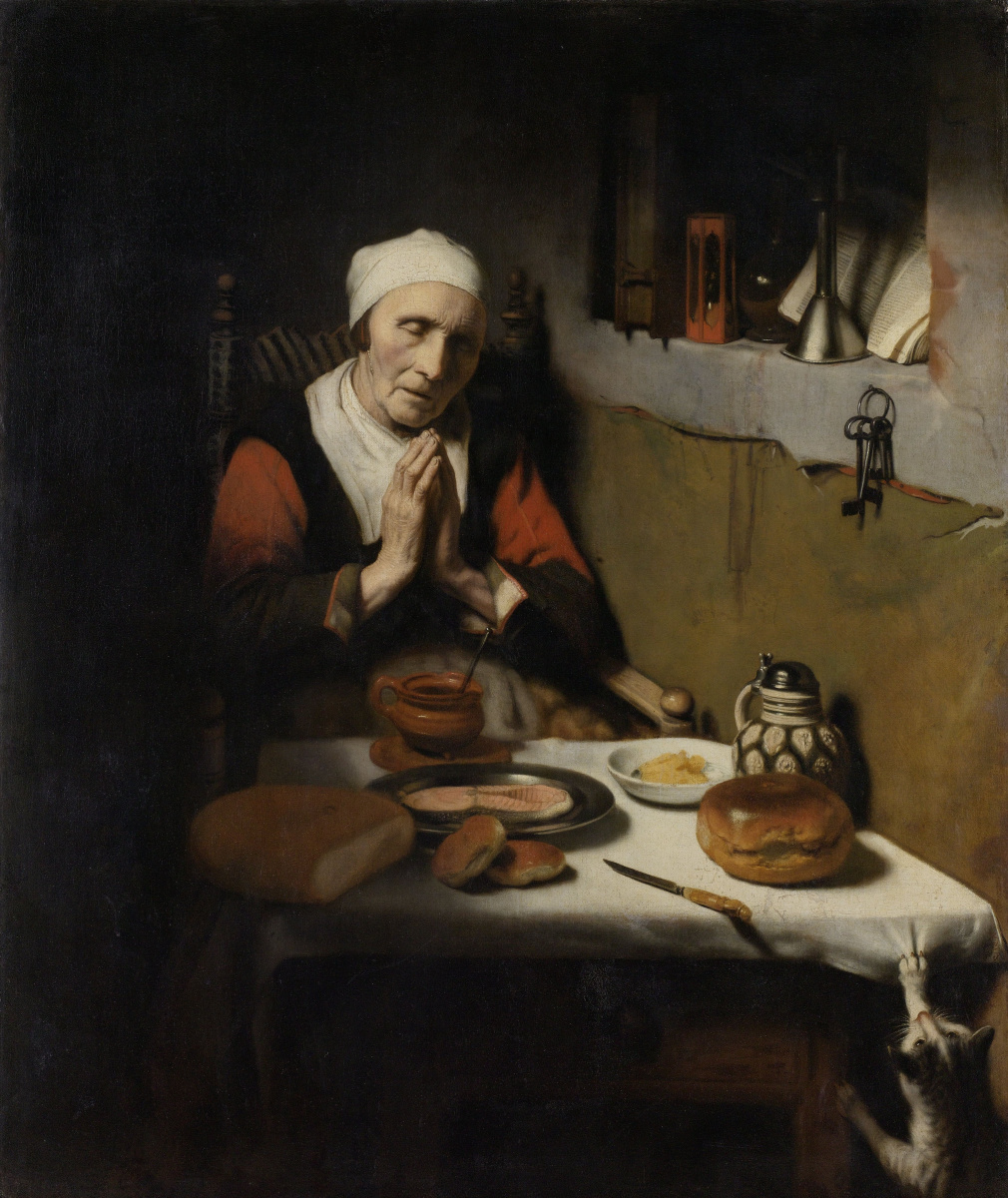 Nicholas Mas. An old woman at prayer (Endless prayer)