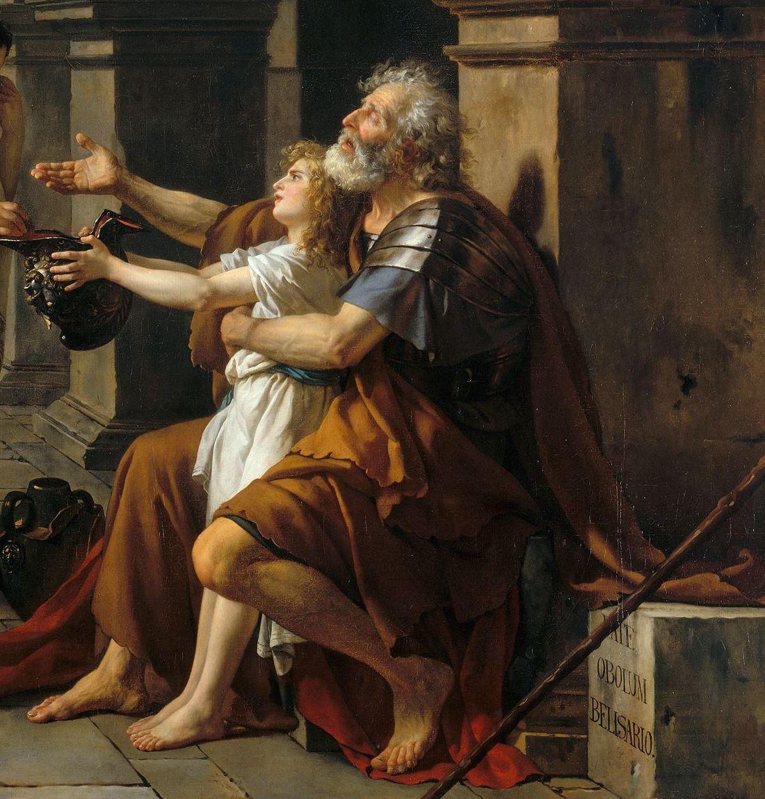 Jacques-Louis David. Belisarius begging. Fragment