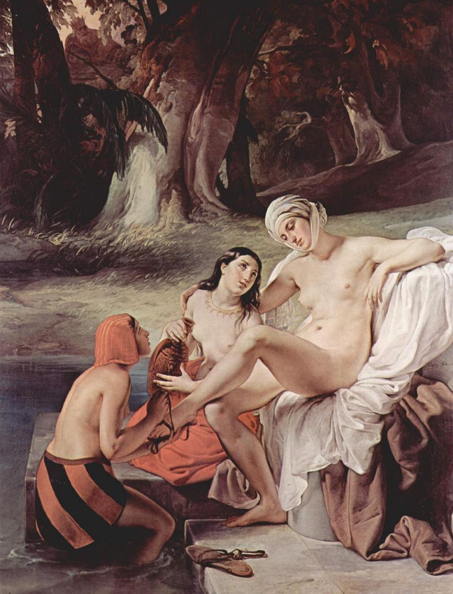 Франческо Айец. Вирсавия в купальне