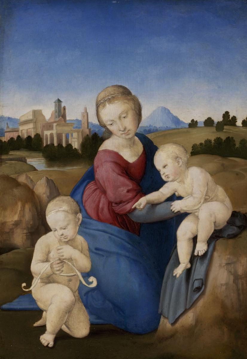 Рафаэль Санти. Мадонна с Младенцем и Иоанном Крестителем (Мадонна Эстерхази)