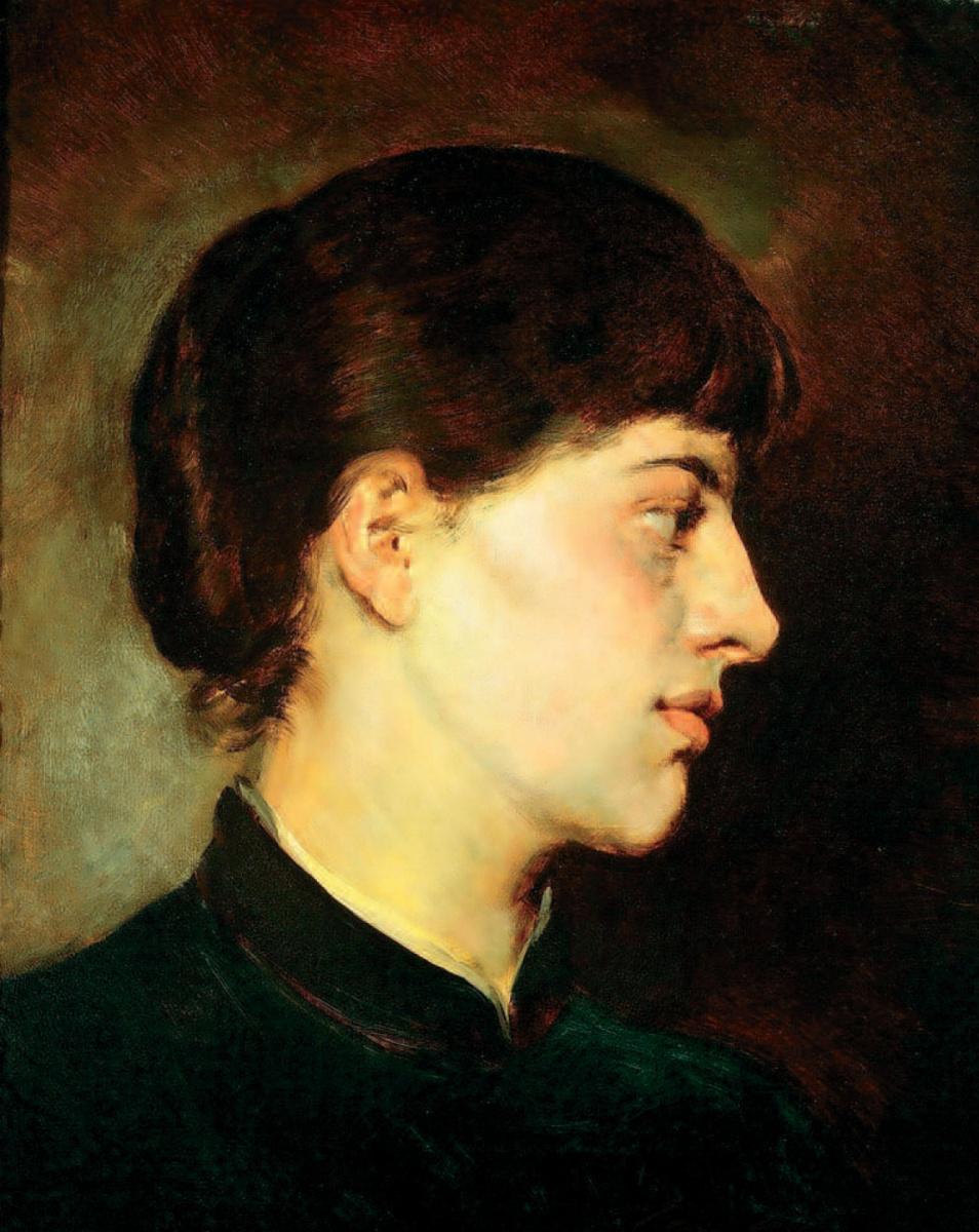 Михай Либ Мункачи. Портрет молодой женщины