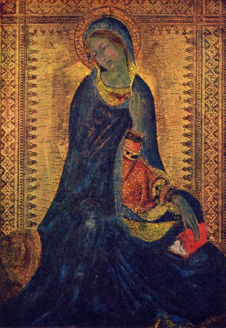 Симоне Мартини. Триптих Благовещение