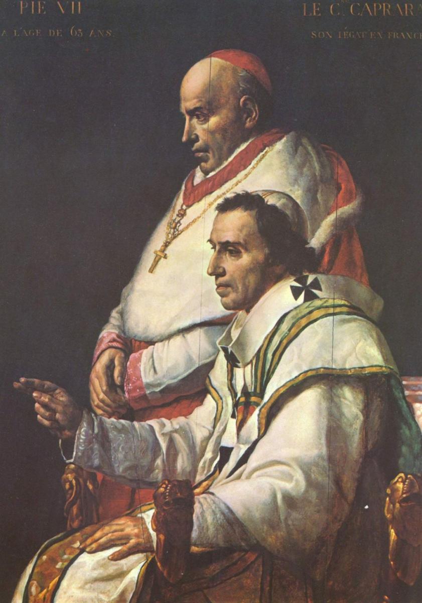 Жак-Луи Давид. Папа Пий VII и кардинал Капрара