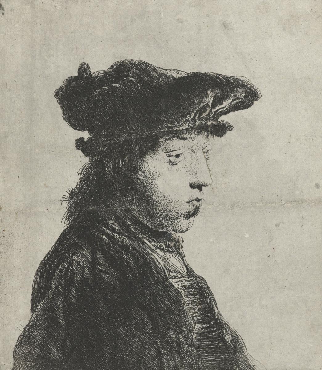 Ян Ливенс. Портрет молодого человека в бархатном берете