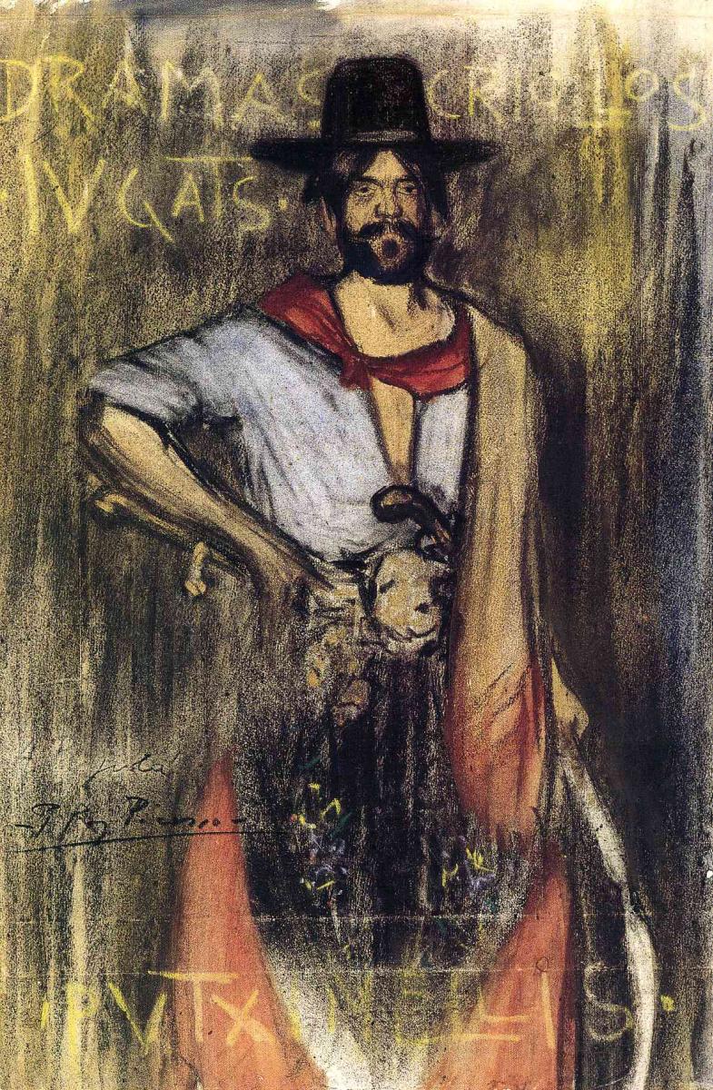Пабло Пикассо. Мужчина в черной шляпе