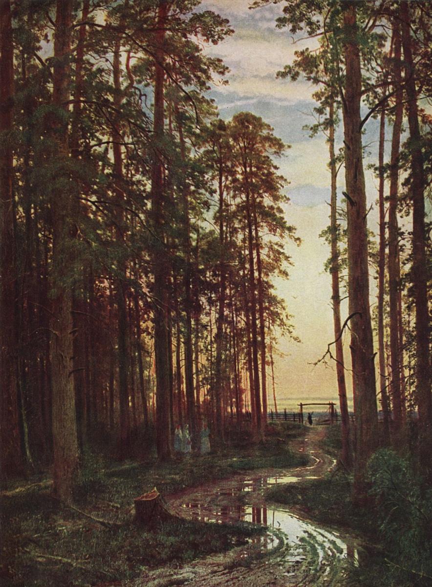 Иван Иванович Шишкин. Вечер в сосновом лесу