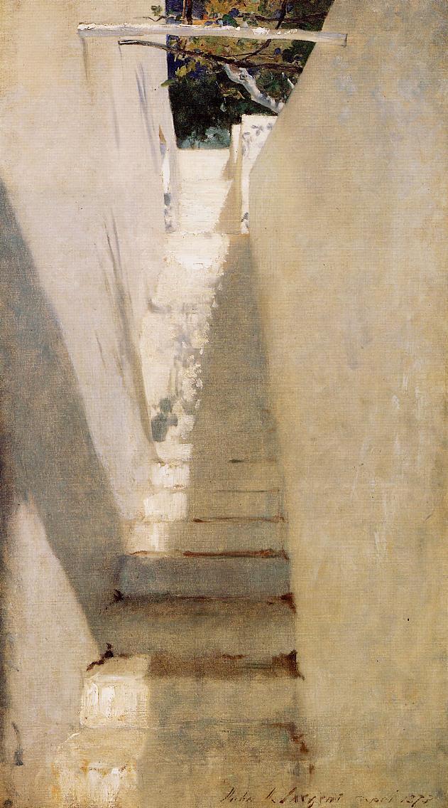 Джон Сингер Сарджент. Лестница на Капри