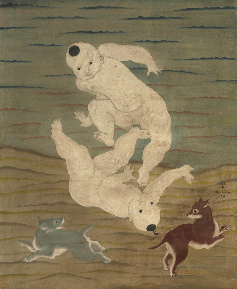 Цугухару Фудзита ( Леонар Фужита ). Дети. 1924