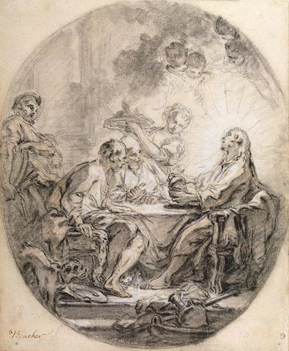 Francois Boucher. Wanderers in Emmaus