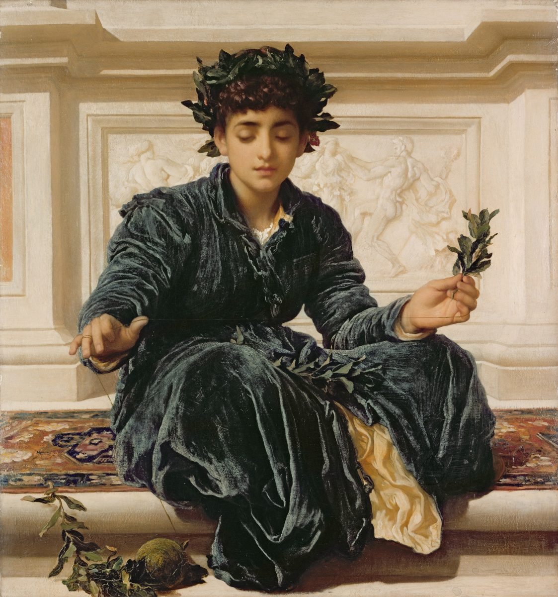 Frederic Leighton. Weaving the Wreath