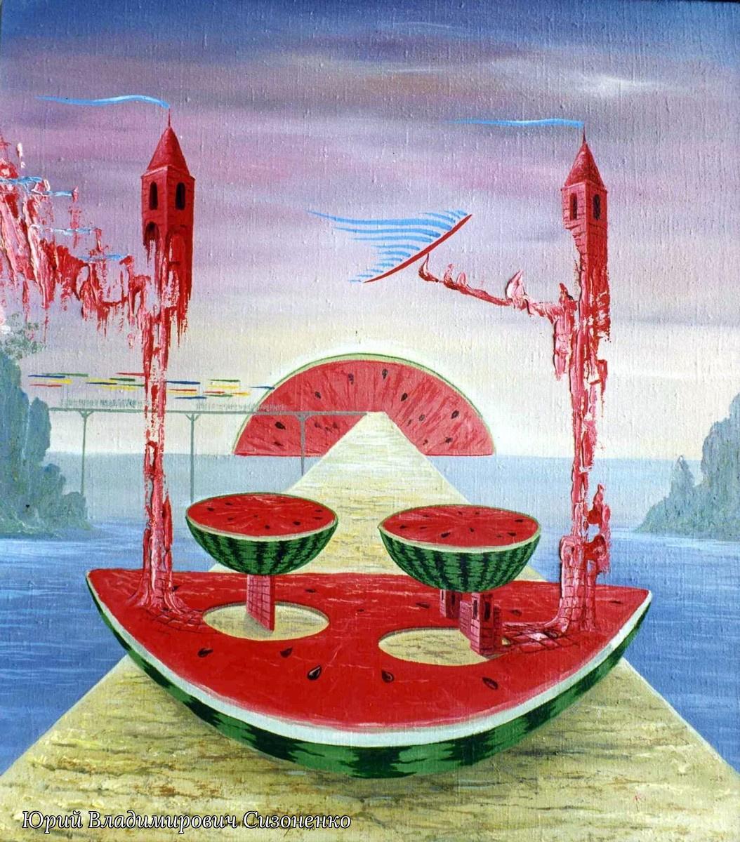 Yuri Vladimirovich Sizonenko. Triptych: Dinner.