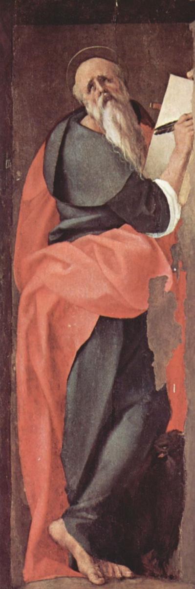 Якопо Понтормо. Св. Иоанн Евангелист, фрагмент