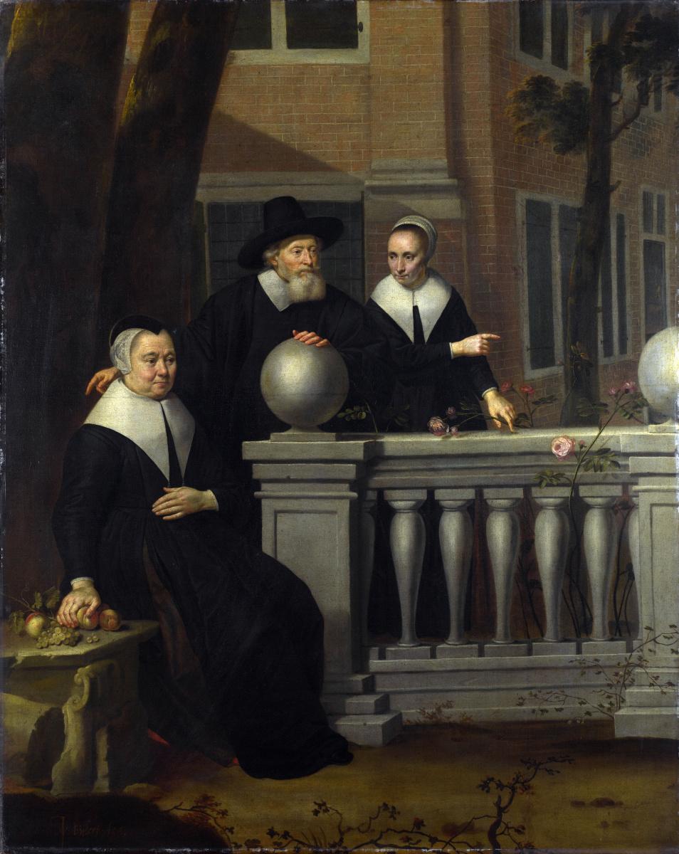 Биджлерт ван Ян. Портрет пожилого мужчины и двух женщин