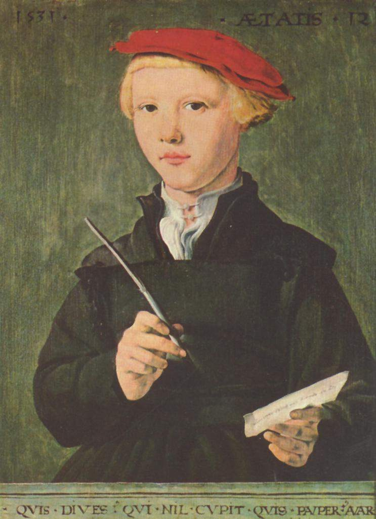 Jan van Skorel. Portrait of a schoolboy