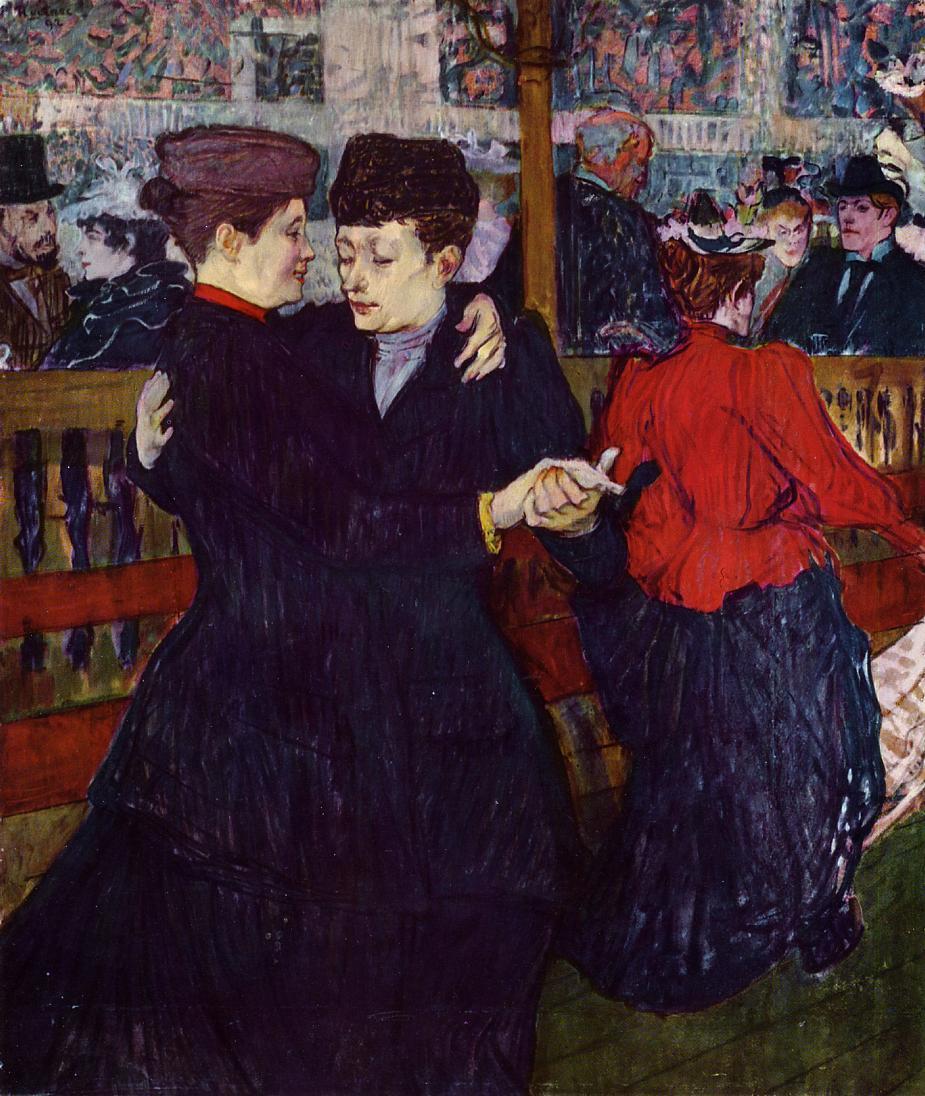 Henri de Toulouse-Lautrec. Dance at the Moulin Rouge