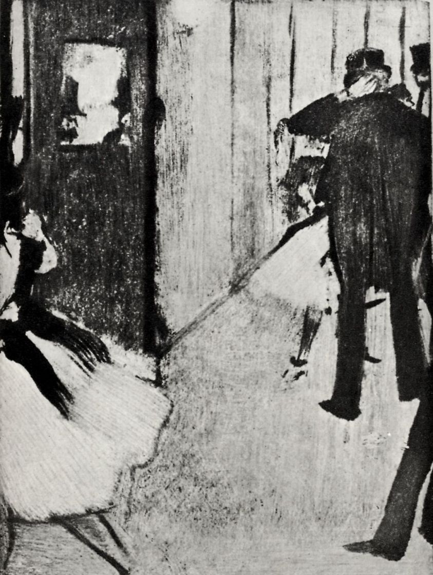 Edgar Degas. Behind the scenes