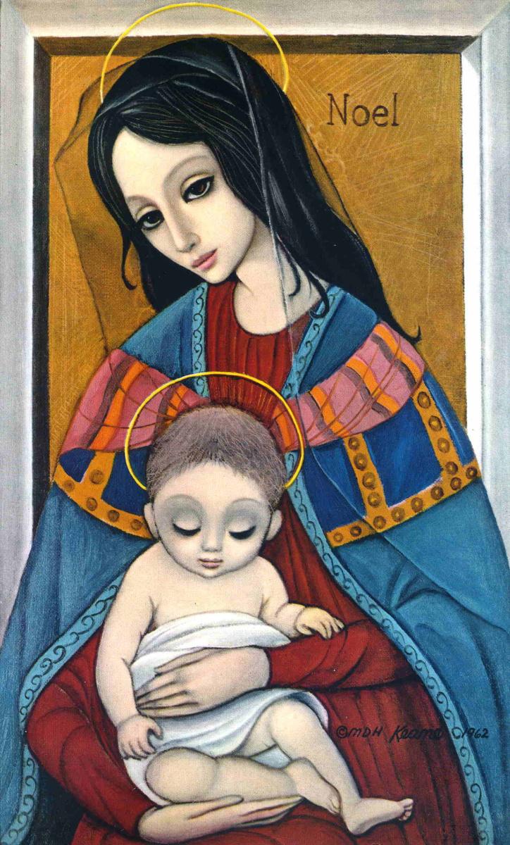 Маргарет Кин. Богоматерь с младенцем