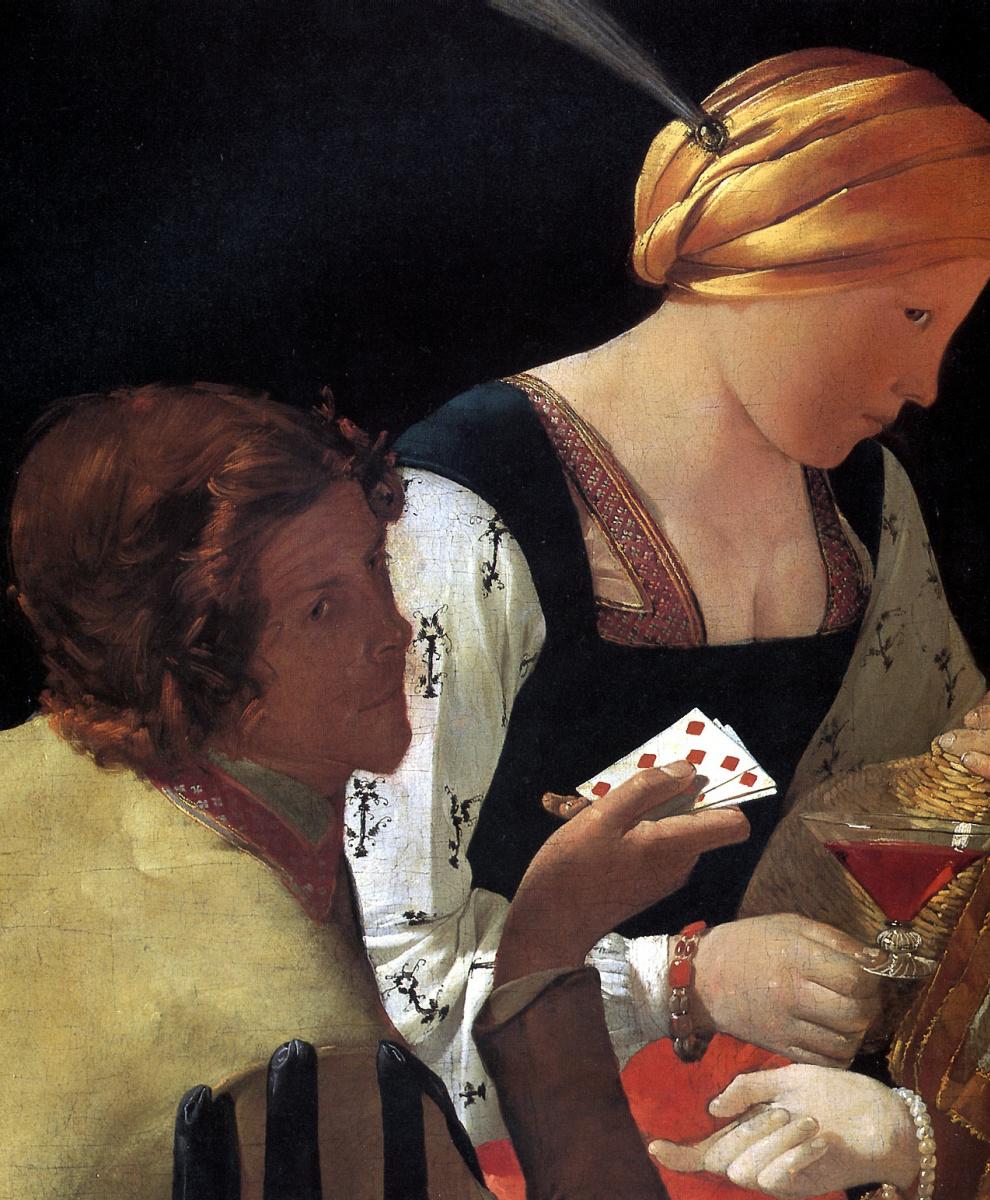 Жорж де Латур. Шулер, или Шулер с бубновым тузом