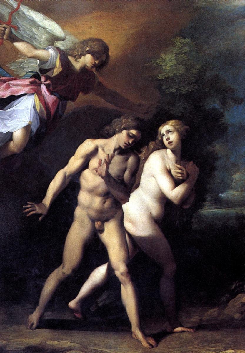 Чезари Джузеппе (Кавалер д'Арпино). Изгнание Адама и Евы из рая