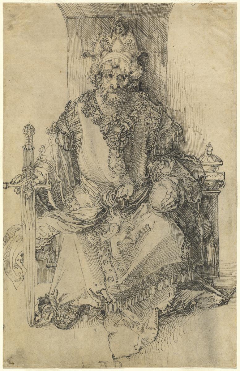 Альбрехт Дюрер. Восточный правитель, сидящий на троне
